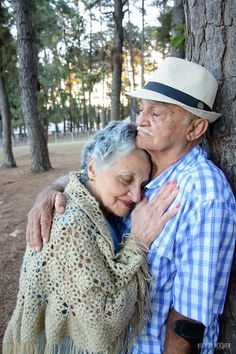 the maturity of the love of a couple who have been together for six decades...Personal Proj.- capture 1 couple/month for 1 year??
