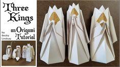 DIY Origami Christmas Nativity- The Three Kings – Origami 2020 Diy Origami, Origami Modular, Origami Ball, Useful Origami, Origami Paper, Origami Envelope, Origami Boxes, Dollar Origami, Origami Nativity