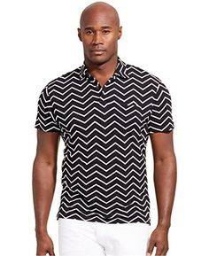 96013422e Polo Ralph Lauren - Polo Shirt With Zig Zag Print Regular Fit - Black for  Men - Lyst