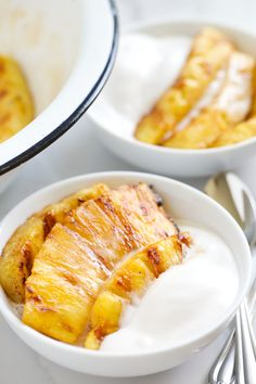 This is your #7 Top Pin in the Vegan Community Board in July: Cinnamon Glazed Grilled Pineapple with Homemade Coconut Ice Cream | GI 365 - 333 re-pins! (You voted with yor re-pins). Congratulations @gi365 !