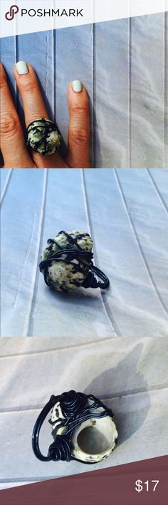 🐚 Wire Wrapped Sea Shell Ring - Handmade -Size 6 HANDMADE WIRE WRAPPED SEA SHELL RING  Usually I find my beach finds in Puerto Rico ~ But I found this gorgeous shell on the AMAZING beaches of Barbados . This sea shell was personally hand picked by me :)  Sea Shell Found On the Beaches of Barbados  used with Black coated silver wire  Piece is 0.75 inch X 1 inch  Size 6  Black/Multi Color Brand new!  Handmade by me🏝 n/a Jewelry Rings