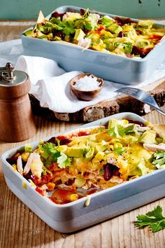 Chicken enchiladas from the oven- # Casserole à la Mexico! Dutch Recipes, Oven Recipes, Greek Recipes, Baby Food Recipes, Healthy Recipes, Chicken Nugget Recipes, Mexican Dinner Recipes, Chicken Enchiladas, Healthy Eating Tips