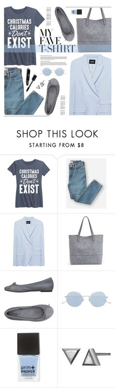 """""""My Fave T-shirt"""" by tamara-p ❤ liked on Polyvore featuring Everlane, SLY 010, Sole Society, Oliver Peoples and MyFaveTshirt"""