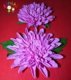 Хризантема мк из фоамирана