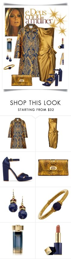 """Mary Katrantzou Spence Jacquard Coat Look"" by romaboots-1 ❤ liked on Polyvore featuring Mary Katrantzou, Lanvin, Rupert Sanderson, Christian Louboutin, MINU Jewels, Lalaounis and Estée Lauder"