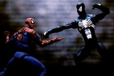 """Fearful Symmetry. Spider-Man vs. Spider-Man captured for Macro Monday's """"Seeing Double"""" theme."""