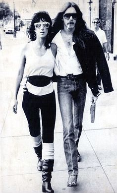 Love on the road: Cher dated Les Dudek after hiring him as a guitarist for her band Black Rose.  The pair met when the pop-oriented Cher decided that she wanted to reinvent herself as a rock star, forming a band called Black Rose.   He auditioned as guitarist and got the job — and the girl. The relationship was very on-off, and when their album flopped, Cher dumped the band — and Les. 1980 to 1982