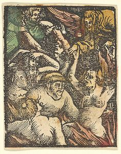 After Hans Baldung (called Hans Baldung Grien) (German, 1484/85–1545). Hell (copy), after 1511.The Metropolitan Museum of Art, New York. Gift of Harry Friedman, 1961 (61.663.377) #Halloween