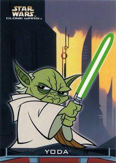 Yoda as seen in Gendy Tartakovsky's Star Wars The Clone Wars pilot series for The Cartoon Network (2003-2005).