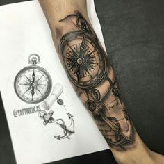 40 Nautical Sleeve Tattoos For Men - Seafaring Ink Deisgn ...