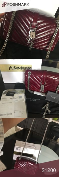 Authentic Yves Saint Laurent handbag Brand new never used. With receipt box and cover for bag. Can be worn two ways Yves Saint Laurent Bags Shoulder Bags