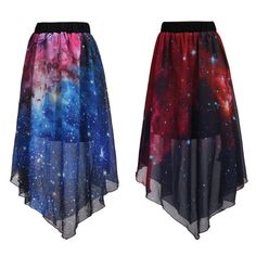 "Harajuku Galaxy Chiffon Skirt - Use the code ""batty"" at Cute Harajuku and Women Fashion for 10% off your order!"