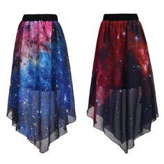"""Harajuku Galaxy Chiffon Skirt - Use the code """"batty"""" at Cute Harajuku and Women Fashion for 10% off your order!"""