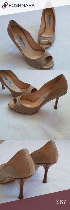 """Jimmy Choo peep toe heels Really nice shoes, super comfy heels size 3"""", they are used in great conditions. Jimmy Choo Shoes Heels"""