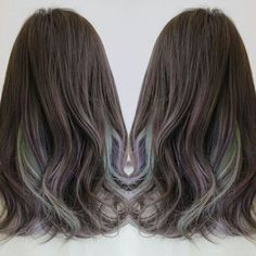 Sprinkle of mint ash and lavender ash to the ash brown hair . Style with beachy curls . Our color promotion infused with Olaplex is still on . Drop by for a color consultation . #taylorslakesidecampus #taylorslakeside #taylorsuni #taylorsuniversity #olaplex #olaplexmy #chicxdapper #chicanddapper #ashbrownhair #unicornhair #ashgreen #ashviolet