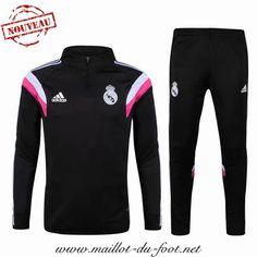 officiel de Nouveau Survetement de foot Real Madrid Black 2015 2016 pas cheres