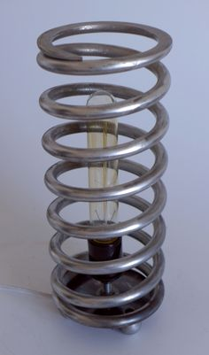 Steampunk Lamp made from car spring