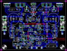 Class AB BJT 100 Watt Hi-End audio power amplifier circuit Voltage Divider, Hi End, Pcb Board, Audio Amplifier, Circuit Diagram, Electronics Projects, Kinds Of Music, Abs, Tecnologia