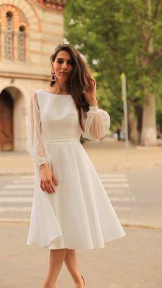 Stylish Dresses, Elegant Dresses, Pretty Dresses, Beautiful Dresses, Elegant White Dress, Classy Dress, White Tulle Dress, Cute White Dress, Evening Dresses