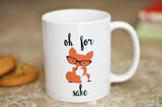 Ach um Fox Willen Kaffeebecher  Fuchs Geschenke  von TheLoveMugs