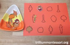 Fall themed outline matching-fine motor.