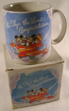 Walt Disney Mug Applause The Sky's the Limit Congratulations Coffee Mickey Mouse #WaltDisney