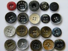 Metal Workwear Button Assortment PtII