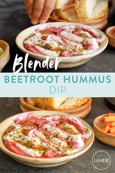 Beetroot Hummus Garlic Juice, Hummus Dip, Greek Yoghurt, Spice Mixes, Beetroot, Serving Dishes, Food Inspiration, Whole Food Recipes, Dips