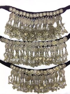 Set of 3, beautiful, unique ethnic chokers made from an assortment of tribal…