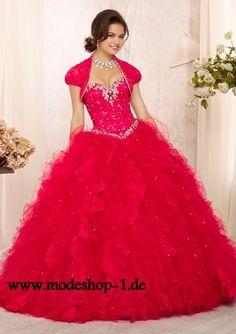 Farbiges Ballkleid 2015 Brautkleid in Pink mit Bolero