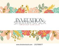 invitation spring season. vector and illustration design.