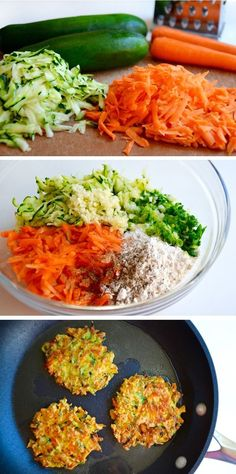 Quick and Crispy Vegetable Fritters Healthy Recipe I'm always on the hunt for fast and flavorful ways to add a veggie component to any meal, from tucking creamy avocado into homemade egg rolls to tra (Vegetarian Recipes Weightloss) Healthy Recipes, Vegetable Recipes, Baby Food Recipes, Healthy Snacks, Vegetarian Recipes, Healthy Eating, Cooking Recipes, Recipes Dinner, Healthy Quick Meals