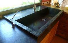 r sultat de recherche d 39 images pour evier pierre de cassis cuisine t pinterest evier. Black Bedroom Furniture Sets. Home Design Ideas