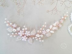 Hey, I found this really awesome Etsy listing at https://www.etsy.com/listing/544372416/floral-hair-vines-rose-headpiece-rose