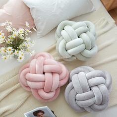 Creative Home Colourful Knot Cushion Pillow Sofa Cushions