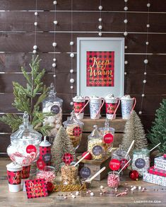 Tartan Hot Cocoa Bar - Winter is the perfect time for hot chocolate, especially here in Wisconsin. And, what better way to warm up from those chilly days and nights than with these super ideas from WisconsinHomemaker.com to create your own Hot Chocolate Bar. https://wisconsinhomemaker.com/hot-chocolate-bar-ideas-tips/