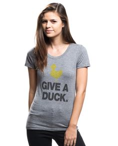 Give A Duck Triblend Short Sleeve Tee