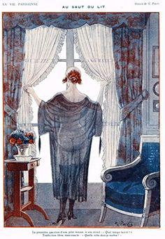 """La Vie Parisienne Page - """"AU SAUT DU LIT"""" - Lithograph - 1921"""