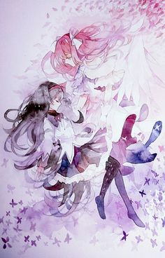 Homura and Madoka - Mahou Shoujo Puella Magi Madoka Magica