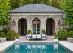 Pool Terrace and Pool House. #Pool #PoolHouse #Terrace