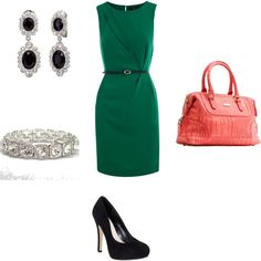 My third polyvore creation. Can be a work option or a date night outfit. I like the coral and green combo but might not be for everyone. To each her own.