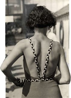 Woman in swimsuit back view - 1933