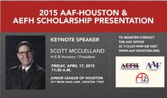 This year's AEFH Scholarship lunch will have the Texas president of HEB as the keynote speaker. We hope Scott will hop in our photo booth! To learn more about this non-profit, visit: www.HoustonAdScholarships.com