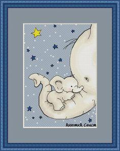 Wall Baby Boy Knitting Patterns, Disney Cross Stitch Patterns, Crochet Stitches Patterns, Cross Stitch Designs, Elephant Cross Stitch, Cross Stitch Animals, Cute Stitch, Cute Cross Stitch, Cross Stitching