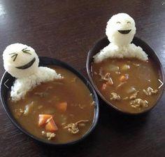 rice men in hot tub soup