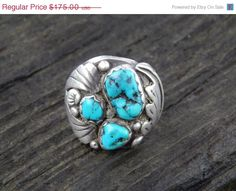 ON SALE Antique Old Pawn Navajo Turquoise Tribal by SoSwankVintage