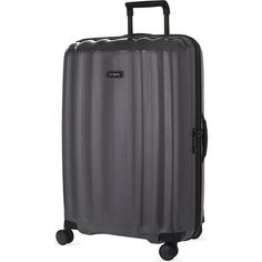 Samsonite Lite-Cube DLX four-wheel suitcase 82cm ($505) ❤ liked on Polyvore featuring bags and luggage