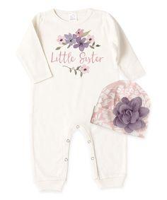7c62cf4b57da Tesa Babe Ivory  Little Sister  Playsuit   Rose Beanie - Infant. Baby Girl  RomperLamb ...