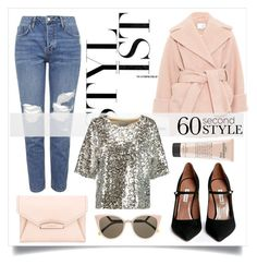 """""""60 Second Style: Daytime Sequins"""" by alaria ❤ liked on Polyvore featuring Topshop, Carven, Tabitha Simmons, Givenchy, Fendi, By Malene Birger, philosophy, Sequins and sixtysecondstyle"""
