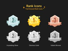 Rank Icons by Messence for OnionMath on Dribbble Design Ios, Game Ui Design, Ad Design, Cover Design, Icon Design, Design Thinking, Motion Design, Badge Icon, Game Interface
